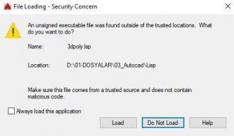 Autocad File Loading Hatası