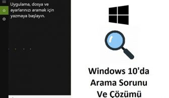 Windows arama sonuç çıkmıyor