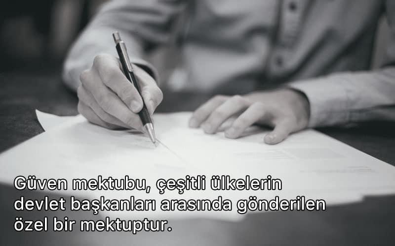 güven mektubu nedir