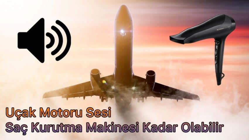 uçak motoru sesi